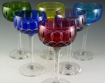 John WALSH WALSH Crystal - Harlequin Coloured Wine Glasses - Set of 6