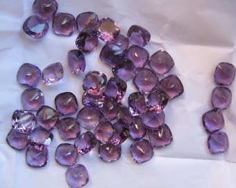 Lot of 10 pcs. AAA natural purple Amethyst cushion cut faceted loose gemstone with free shipping