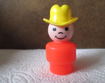 Vintage 1970's Fisher Price Little People - Cowboy