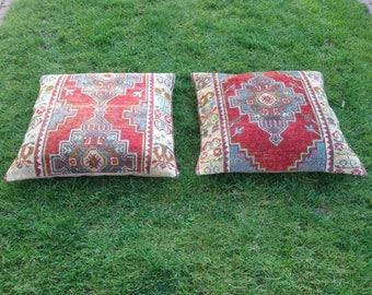 Carpet Pillow , 80x80 cm , (32x32 inches) , Large carpet pillow ,boho  pillow ,Turkish pillow,Handmade pillow ,pillow carpet,Carpet pillow