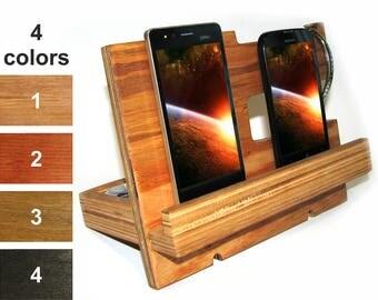 Docking station wood men Wooden Charging station Phone stand wood Desk organizer men iPhone holder wood men Phone holder men Phone dock men