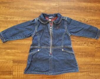 Vintage Tommy Hilfiger Infant / Toddler Denim Dress
