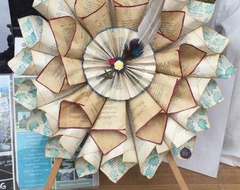 Personalised book wreath