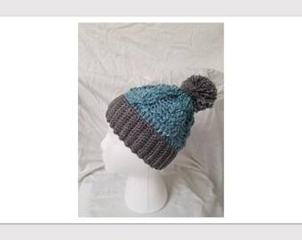 Crochet Pom Hat, women's/girl's