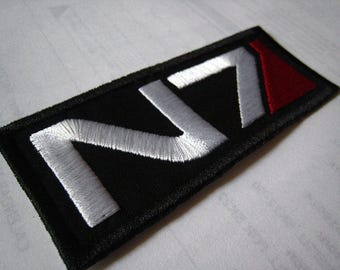 Mass Effect N7 Patch Iron On Sew On