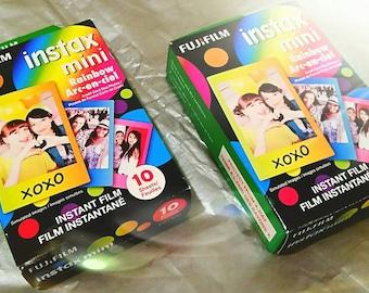 2 pk Set ~ Fujifilm Instax Mini Rainbow Instant Film 10 Sheets per pack
