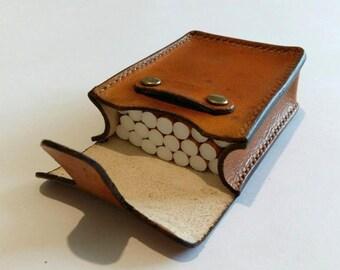 cigarette case, Leather cigarette case,cigarette box, Leather case for cigarette , Zigarettenetui Zigaretten Box .cigarette holder