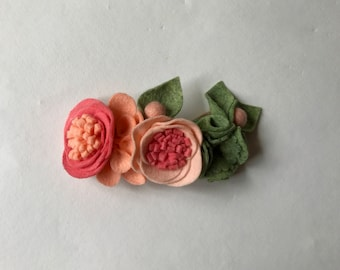 SALMON// fairy crown headband// felt flowers