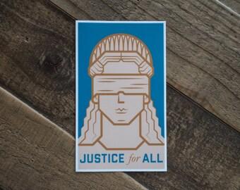 Justice for All Sticker Anti-Trump Sticker ACLU