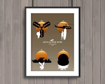 APOCALYPSE NOW, minimalist movie poster