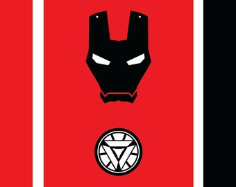 Ironman, Instant Download, Superman Logo, 2 Different Print Options