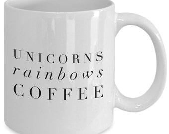 Unicorn Gift coffee mug - unicorns rainbows coffee - Unique gift mug