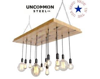 Industrial Chandelier, Edison Chandelier, Hanging Light, Industrial Light Fixture, Pendant, Rustic Chandelier, Modern Chandelier, Urban