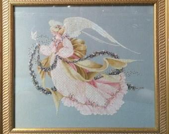 Angel of Summer Framed Cross Stitch