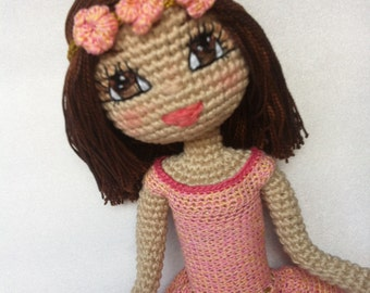 Crochet Doll custom made.  Order your own customised doll. You choose the body shape & colouring.
