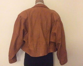 Vintage Leather Jacket 1970s/80s tan coloured