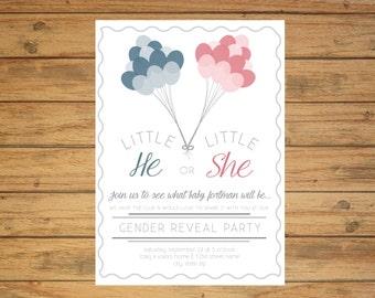 Printable Gender Reveal Party Invitation