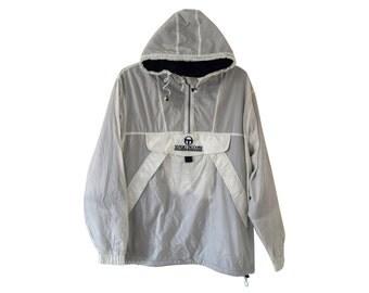 Vintage Sergio Tacchini Sport Since 1966 women jacket sweeters sweatshirt Zippered Sportswear hooded white