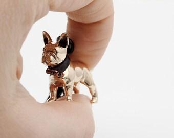 Vakkancs French Bulldog bronze keychain (3D)