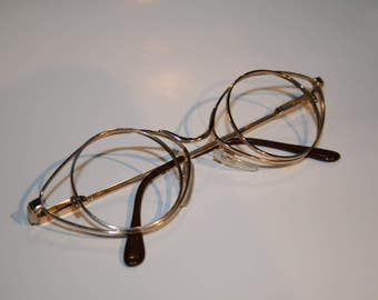 Vintage French Gold Cat Circles