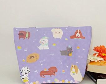 Dog tote bag/PVC tote bag/tote bag/Medium size