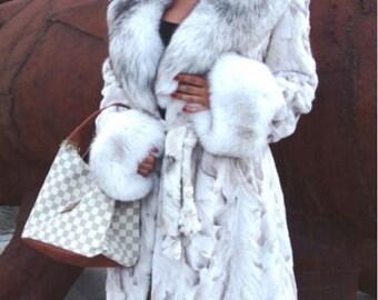 Mink / fox fur coat