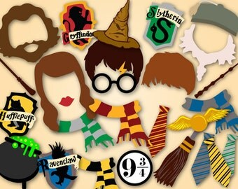 Printable Harry Potter Photo Booth Props, Harry Potter Birthday Party Photo Booth Props, Harry Potter Party DIY Instant Download 0142