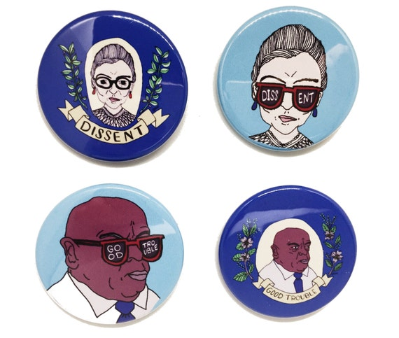 4 Button Pack | RBG & John Lewis | POWER COMBO!