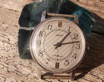 USSR Vintage  Pobeda Victory Mens watches 1980 vintage watch, Pobeda watch, wrist watch for men, watches for men, vintage watches.