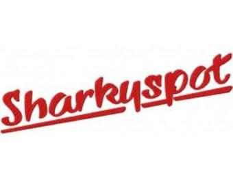 Sharky spot Font Embroidery Font Set Instant Digital download