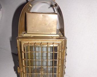 Jans of London lantern, English lantern lamp, brass oil ship lamp lantern, Kersone ship position lamp, Nautical Decor, old brass light