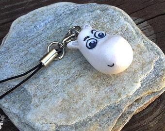 Moomin Inspired Charm Keychain Handmade
