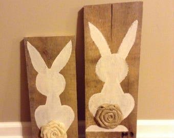 Bunny Barnwood Plank, Bunny Sign, Easter Bunny, Bunny Wood Sign, Bunny Rabbit Sign, Bunny Wall decor