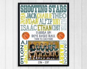 BASKETBALL TEAM GIFT ~ Basketball Coach ~ Basketball Gift ~ Basketball Art ~ Boys Basketball ~ Basketball Digital ~ Basketball Team Photo