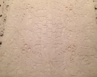 Battenberg Lace Pillow Cover