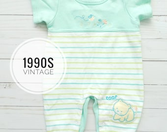 Gender neutral 1990s baby romper