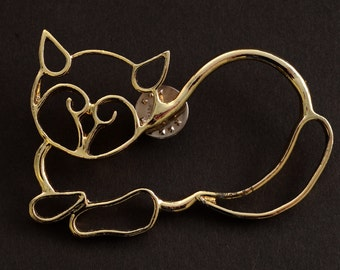 Kitty Outline Pin