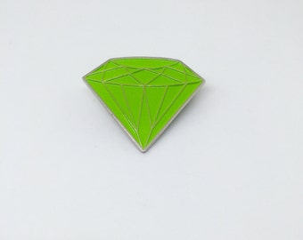 Green diamond enamel/lapel pin