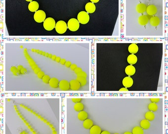Neon Yellow Jewelry - Summer Time Necklace - Trendy Summer Jewelry - Summer Jewelry - Neon Yellow Necklace - Neon Jewelry - Neon Necklace