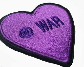 Purple Heart Emoji Patch