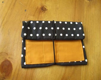 Leno pouches tobacco bag points, black spotted curry