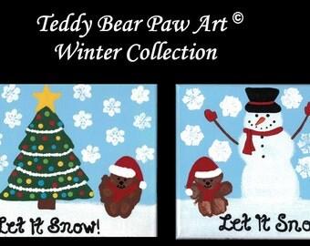 Teddy Bear Paw Art