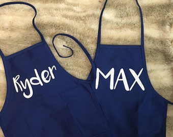 Personalized Kids Apron- baking apron, craft apron