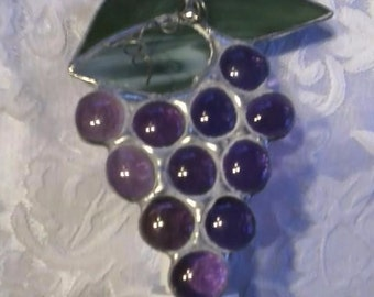 Stained Glass Grape Cluster Night Light