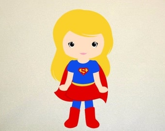 Super girl SVG Clipart Cut Files Silhouette Cameo Svg for Cricut and Vinyl File cutting Digital cuts file DXF Png Pdf Eps vector clip art