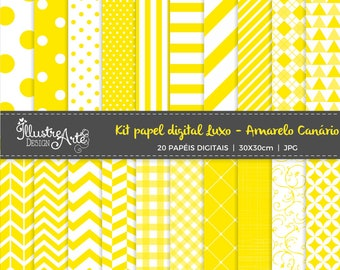 50% OFF - Digital Paper Basic Canary yellow