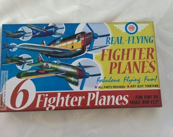 Retro Kit of 6  Real Flying Fighter Planes Toy