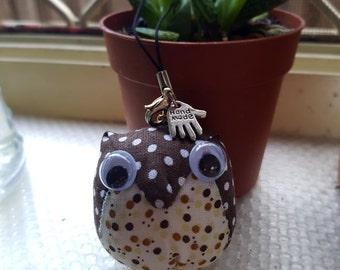 Cute Fabric Owl Charm