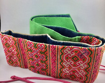 """Clearance!Tibetan Embroidery Art,Embroidered Women's Belt,Vegetable Dye,One Piece in the World,3""""X41"""",FREE SHIPPING"""