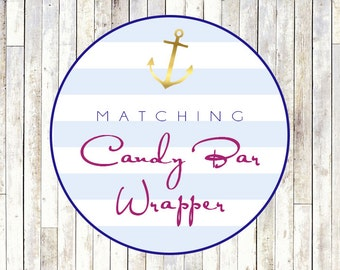 Matching Candy Bar Wrapper - Printable DIY
